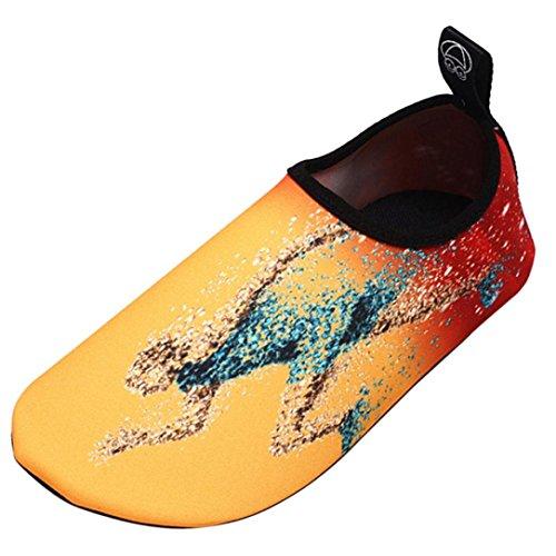 Deesee (tm) Uomini Donne Allaperto Sport Acquatici Immersioni Yoga Calze Da Surf Nuotare Spiaggia Snorkeling Calzini Gialli