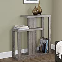Dark Taupe Three Tiered Reclaimed Wood-look Console Accent Table Includes Custom Mouse Pad