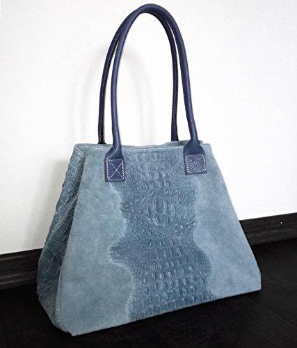 rose main ITALYSHOP24 COM à Bleu pour Sac bonbon xl Jeans Rose femme 4w40C