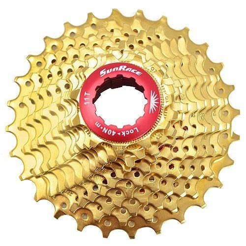- SunRace CSRZ1 11 Speed Road Bike Cassette 11-28T, Gold #ST1685