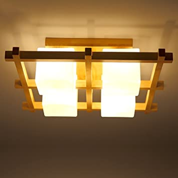 Japanese Style Solid Wood Ceiling lamp Chinese Living Room ...