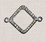 Christmas Sale 925 Sterling Silver Connector Spacer Finding, Women's Pave Diamond Silver Connector Charms Finding Jewelry
