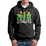 Rebecca-P Men's Plants Vs. Zombies Casual Style Hoodie Hoodies S Black
