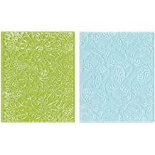 Sizzix Textured Impressions Embossing Folders 2-Pack, Bohemian Lace Set by Rachael Bright
