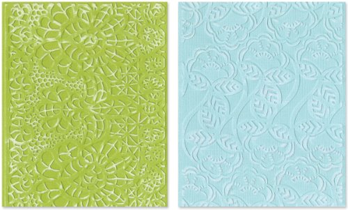 Sizzix Textured Impressions Embossing Folders 2PK - Bohemian Lace Set by Rachael Bright by Sizzix