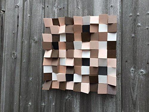 Unique Retro Wooden Wall Art One Off Piece Of Artwork Block