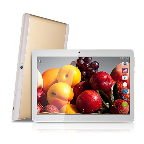 Bestenme 10 inch Tablet PC Octa Core 1280X800 IPS Bluetooth RAM 2GB ROM 32GB 8.0MP 3G Dual sim Phone Android 7.0 (gold) by Bestenme
