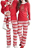 J.B.Y Christmas Kids Mom Dad Two Piece Striped Matching Family Pajama Set Sleepwear (S, Mom)