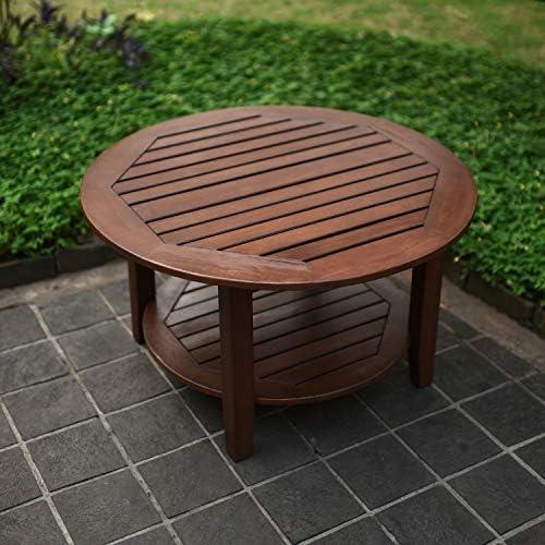 Cambridge-Casual 590170 Como Sectional Coffee Table, Brown