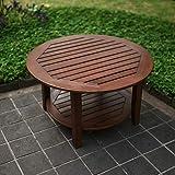 Cambridge-Casual 590170 Como Sectional Coffee Table, Medium Brown