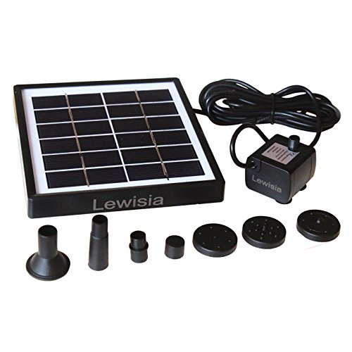 Lewisia 1 5w Outdoor Solar Fountain Pump Waterfall