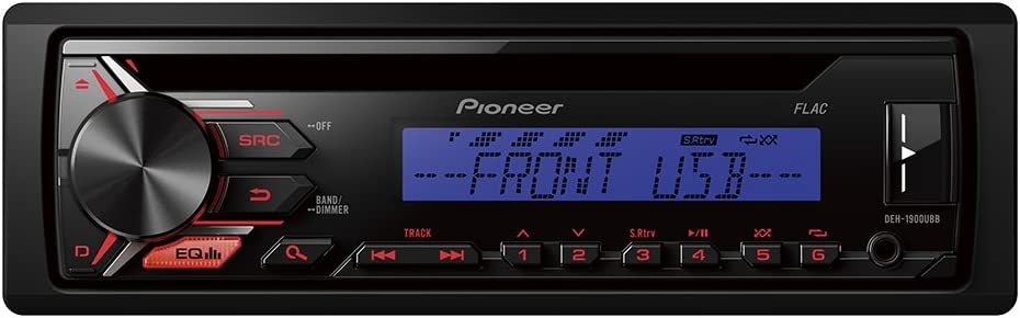CD USB and Aux-in Pioneer DEH-1900UBB Car Stereo with RDS Tuner