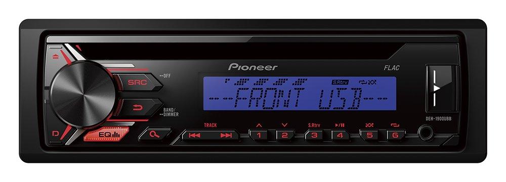 Pioneer DEH-1900UB | 1DIN Autoradio CD-Receiver mit Front AUX-In | Remote App Control fü r Android | RDS Radio | USB | Wiedergabe von MP3 WMA WAV FLAC ü ber MOS-FET 4 x 50W | High Level Car HiFi