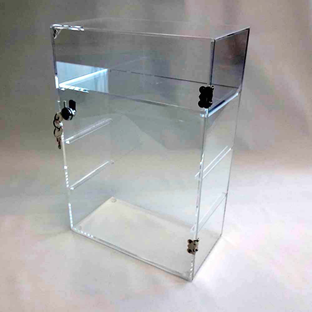 Acrylic Lucite Countertop Display Case Showcase Box Cabinet 12'' X 6'' X 16'' by Marketing Holders (Image #7)