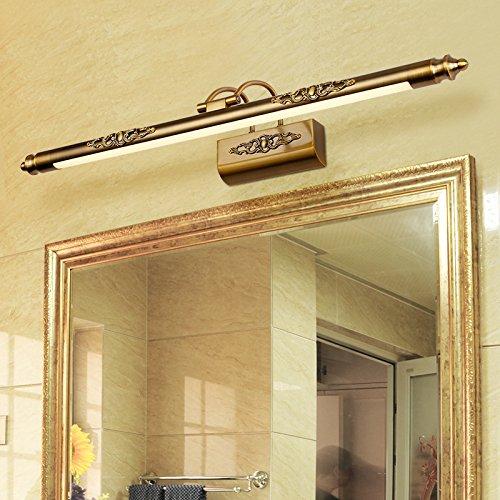 European American LED-Spiegelleuchte retro rostend Badezimmereitelkeit Beleuchtung 50cm FT Lighting
