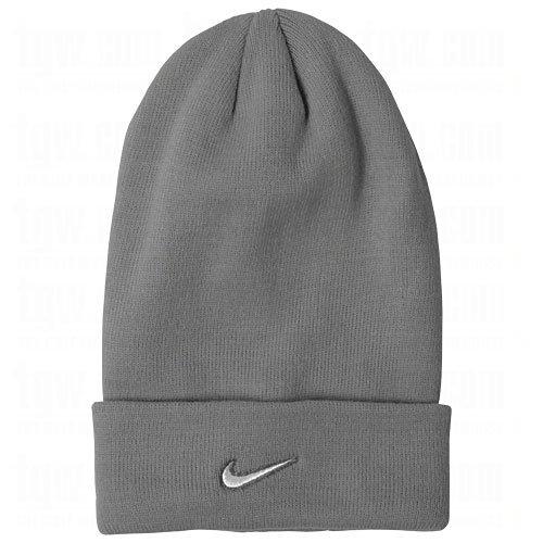 Nike Stock Cuffed Knit Beanie Adult Unisex (Silver) (Nike Beanie Wool)