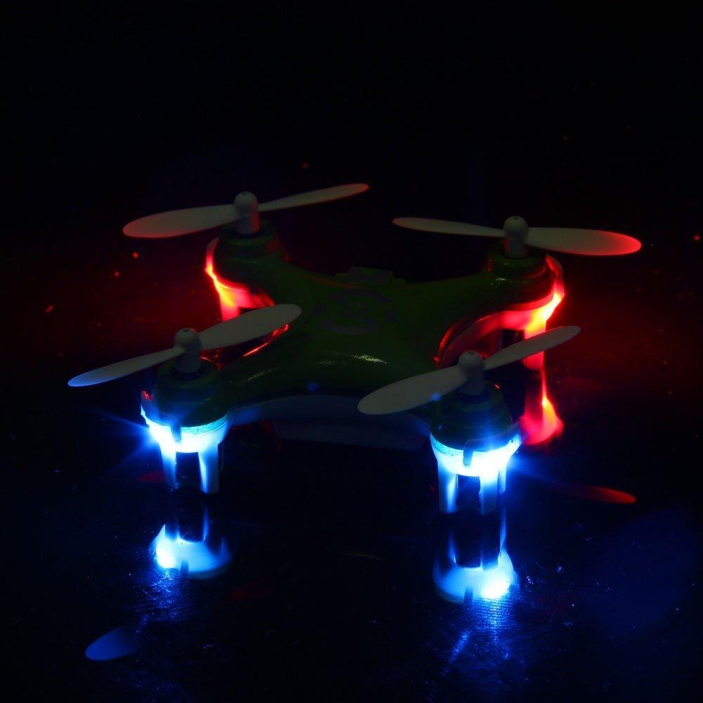 Leoie CX-10 Mini 29mm Diameter 4CH 2.4GHz 6 Axis Gyro RC Quadcopter UFO RTF Blue