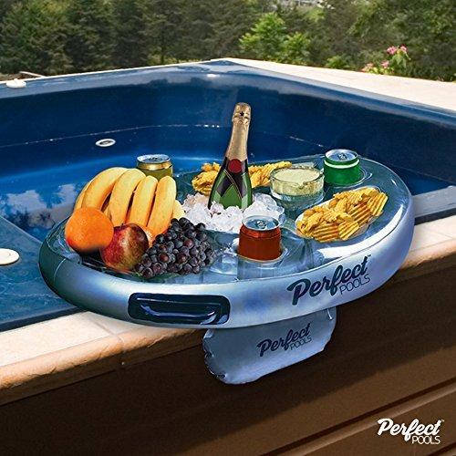 Bandeja Oficiales Piscinas SPA Bar Inflable Bañera de hidromasaje Lateral de Bebidas y Aperitivos Fiestas en la Piscina!