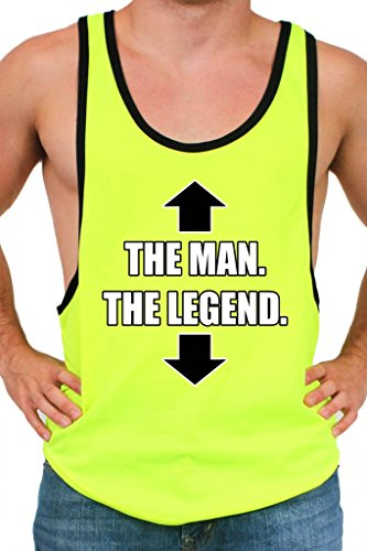 Men's Dri Fit The Legend The Man Tank Top NEON YELLOW (XXL)