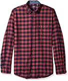 IZOD Men's Big and Tall Flannel Long Sleeve Shirt, fig, Large Slim