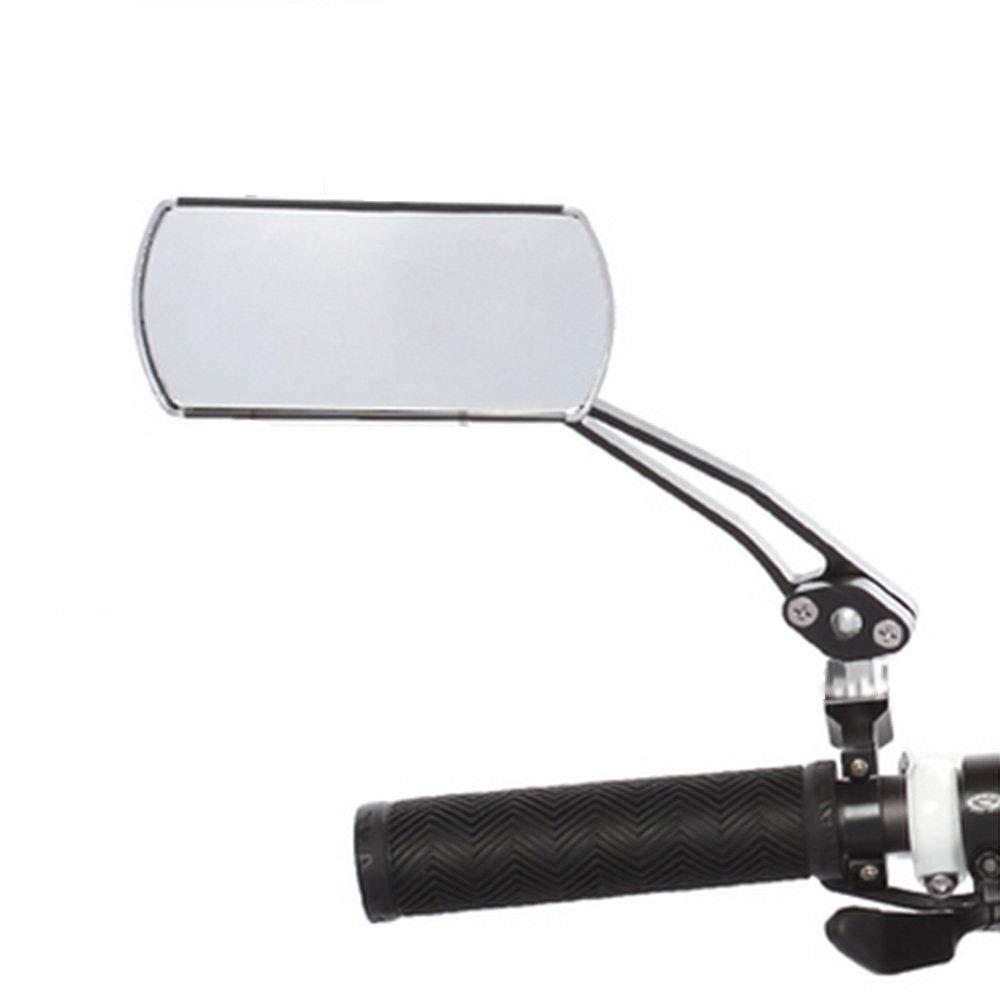 22001100 Silber-schwarz Passend F/ür Links Und Rechts Point Fahrradspiegel Universell