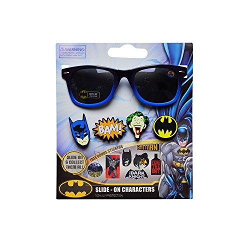 WB DC Comics Batman Kid's Sunglasses with 3D Slide-on Characters