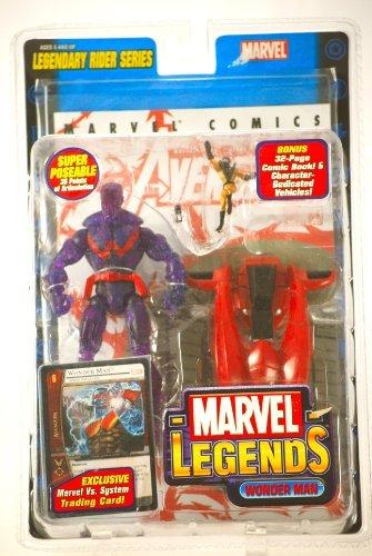 Wonder Man Figure - Marvel Legends - Legendary Rider Series - Wonder Man Action Figure 2005