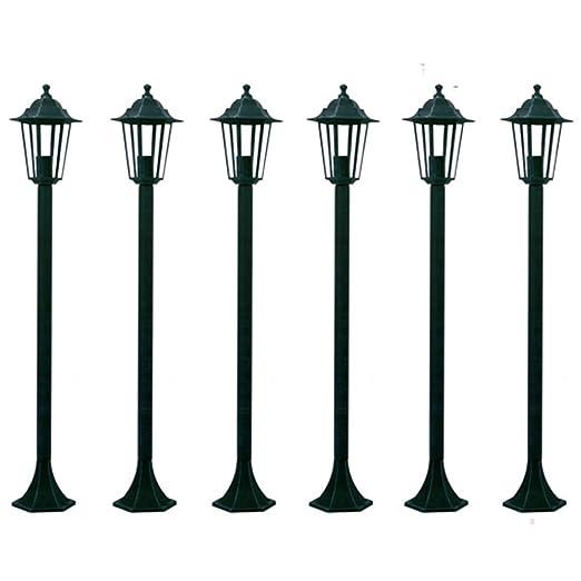 23 opinioni per LAMPIONI DA GIARDINO LANTERNE 6X, H110 CM. VERDE SCURO ILLUMINAZIONE DA ESTERNO