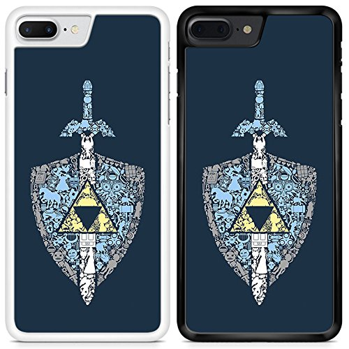 The Legend of Zelda Shield and Sword Custom Printed Phone Case for Samsung Galaxy S6/TLOZ0103/White