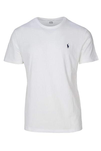 0ca4232d58 Ralph Lauren Polo Mens Crew Neck T-Shirt (Medium, White): Amazon.com ...