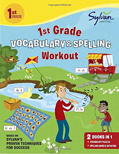 1st Grade Vocabulary & Spelling Workout (Sylvan Beginner Workbook)