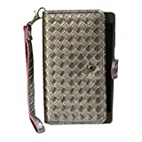 J Cover A9 I Elegant Series Leather Carry Case Cover Pouch Wallet Case For Micromax Canvas A82 Silver