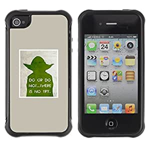 LASTONE PHONE CASE / Suave Silicona Caso Carcasa de Caucho Funda para Apple Iphone 4 / 4S / sci-fi movie character poster space wars