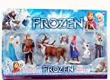 Disney Frozen 6pcs Frozen Figures Toys Doll Anna Elsa Hans Sven Olaf Kid Play Set