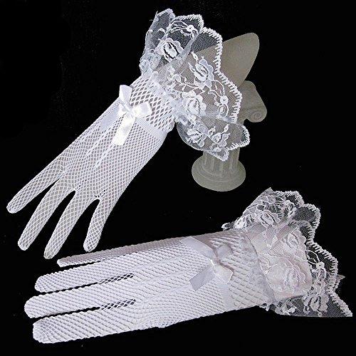 Gants Doigts Gants De Mariée Pour Le Blanc Robe De Bal Accessoires De Fête De Mariage Soirée Blanche
