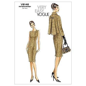 Vogue 8146 - Patrón de costura para confeccionar traje de mujer: Amazon.es: Hogar