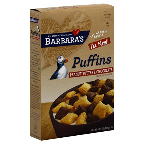 Barbara's Bakery Puffins Cereal Peanut Butter and Chocolate -- 10.5 oz(Pack of ()