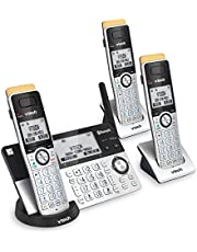 $99 » VTECH IS8151-3 Super Long Range 3 Handset DECT 6.0 Cordless Phone for Home with Answering Machine, 2300 ft Range