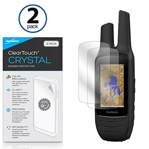 BoxWave Garmin Rino 755t Screen Protector, [ClearTouch Crystal (2-Pack)] HD Film Skin - Shields From Scratches for Garmin Rino 755t, 750