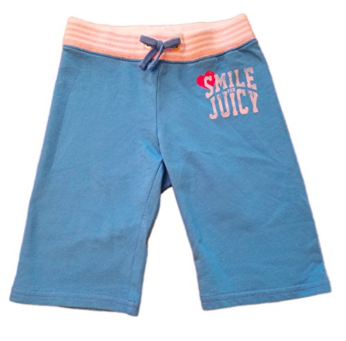 Juicy Couture Little Girls French Terry Active Crop Pants, Size 2, Beach Blue
