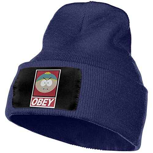 BXNOOD Mens & Womens Obey South Park Cartman Skull Beanie Hats Winter Knitted Caps Soft Warm Ski Hat Navy]()