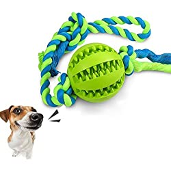 SUNNY-ZH Interactive Dog Toys Dog Chew Toys Ball for Tough Durable Nontoxic Rubber Pet ball Interactive IQ Dental Treat Tooth Cleaning Toy for Dogs Training Playing Chewing