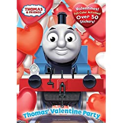 Thomas the Tank Engine Valentine's Day coloring and activity book for kids