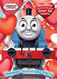 img - for Thomas' Valentine Party (Thomas & Friends) (Full-Color Activity Book with Stickers) book / textbook / text book