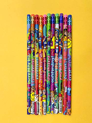 Geddes Incentive Pencils, Various Phrases for Kids, Set of 144 (64244) ()