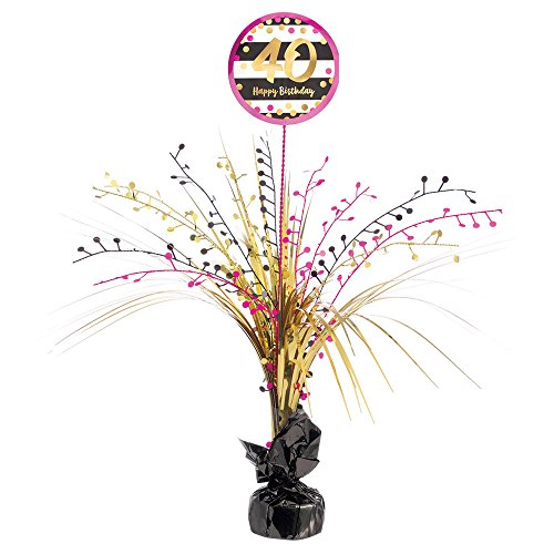 Pink-Gold 40 Spray Centerpiece [Contains 1 Manufacturer Retail Unit(s) Per Amazon Combined Package Sales Unit] - SKU# - Spray Gold Centerpiece