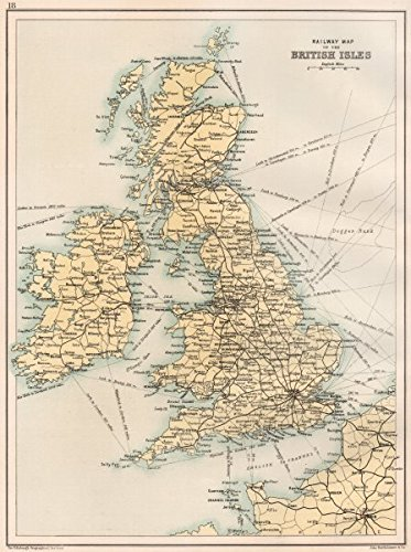Map Of England Ireland Scotland Wales.British Isles Railway Map England Ireland Scotland Wales