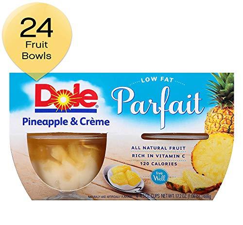 DOLE FRUIT BOWLS Low Fat Pineapple and Creme Fruit Parfait 4 Cups 6 Pack