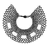 Idealway African Zulu Beaded Necklace Tribal Choker Colorful Acrylic Indian Ethnic Bib Collar