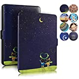 Kindle Paperwhite Case, AICOO YCL Slim Auto Wake/Sleep Magnetic Closure Book Flip PU Leather Case Cover For eBook Reader Kindle Paperwhite All Versions 2012, 2013, 2014 and 2015 - Moon lovers